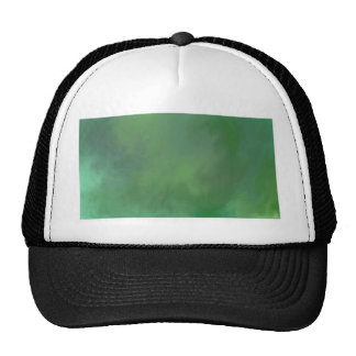 green abstract paint mix. trucker hat