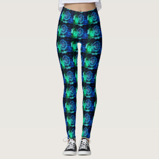 Green Abstract Pattern 3 Leggings