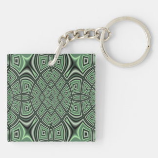 Green Abstract Pattern Acrylic Key Chains
