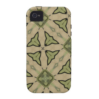 Green Abstract pattern Case For The iPhone 4