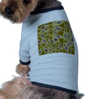 Green Abstract Pattern Dog T-shirt