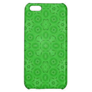 Green abstract pattern iPhone 5C cover