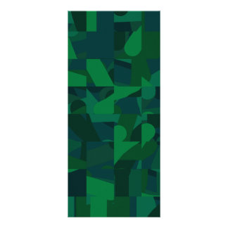 Green Abstract Pattern Custom Rack Cards