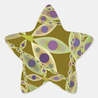 Green Abstract Pattern Star Sticker