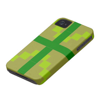 Green Abstract pattern theme Case-Mate iPhone 4 Case