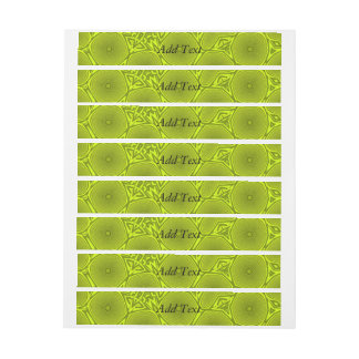 Green abstract pattern wraparound address label
