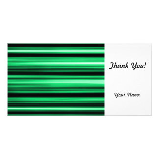 Green Abstract Personalized Photo Card