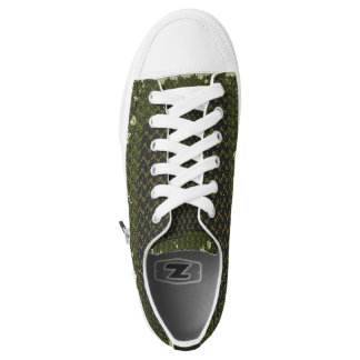 green abstract shoes