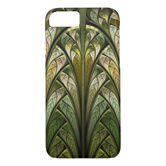 Green Abstract Stained Glass West Wind iPhone 7 Case