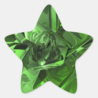 Green Abstract Star Sticker