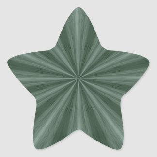 Green abstract starburst star sticker