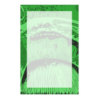 Green Abstract. Stationery Paper