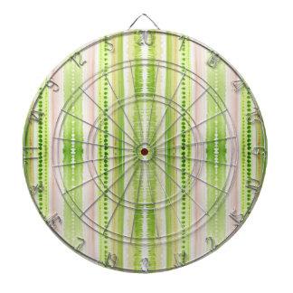 Green abstract striped watercolor pattern dart board