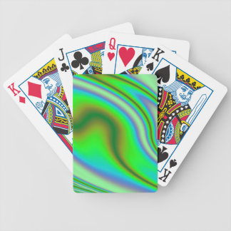 Green Abstract Swirl Bicycle Playing Cards