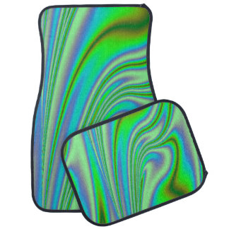 Green Abstract Swirl Car and Truck Mats