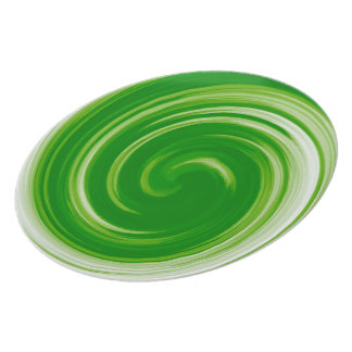 Green Abstract Swirl Pattern Plate