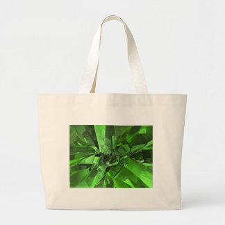 Green Abstract Canvas Bags