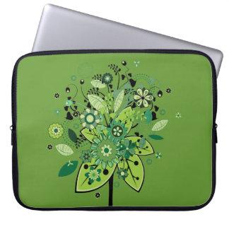 Green Abstract Tree Laptop Sleeve