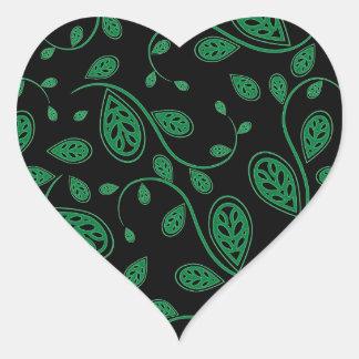 Green Abstract Vine Pattern Sticker
