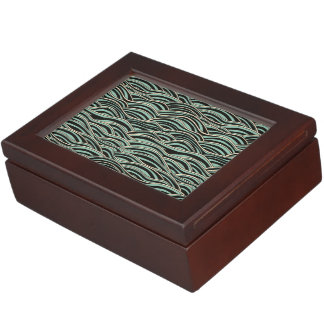 Green abstract waves pattern. Sea texture. Keepsake Box