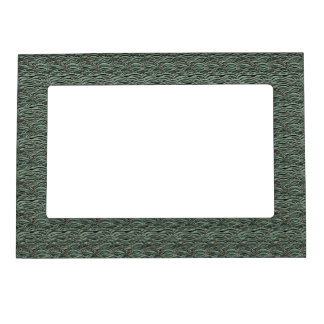 Green abstract waves pattern. Sea texture. Magnetic Frame