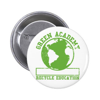 Green Academy Faded Pinback Button