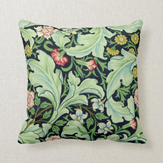 Green Acanthus Throw Pillow