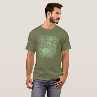 """Green """"Accept"""" Stamped Shirt"""
