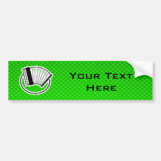 Green Accordion Bumper Sticker