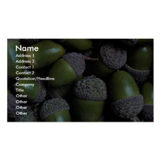 Green Acorn nuts Business Card