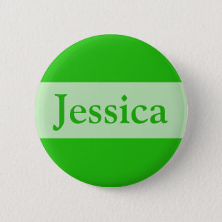 green Add your name 6 Cm Round Badge