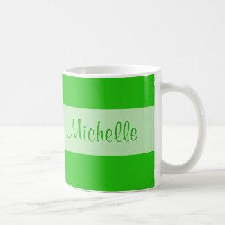 green Add your name Basic White Mug
