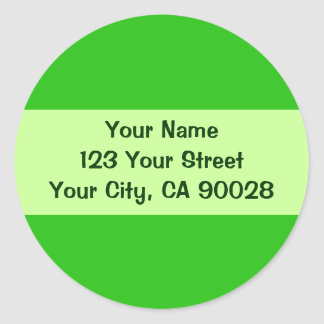 green Address labels Round Stickers