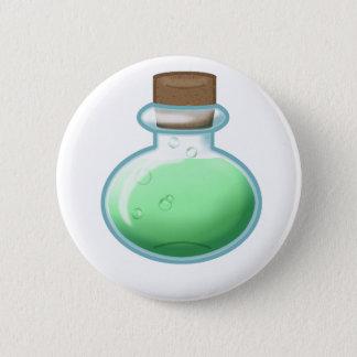 Green Alchemy Bottle 6 Cm Round Badge