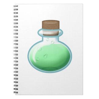 Green Alchemy Bottle Notebook