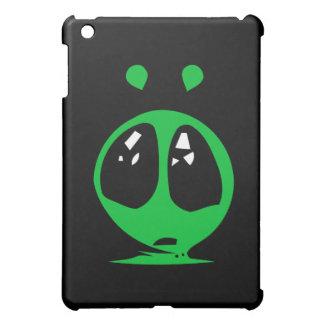 green alian big eyes iPad mini cases