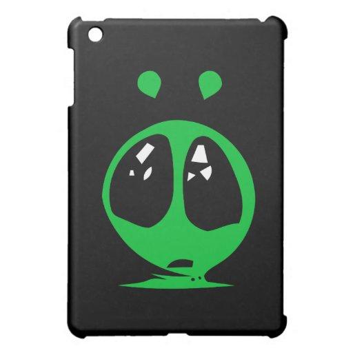 green alian big eyes. iPad mini cases