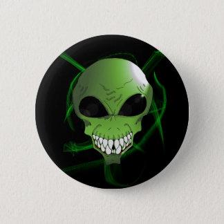 Green alien button