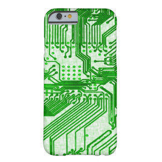 Green Alien Circuit Chip Barely There iPhone 6 Case