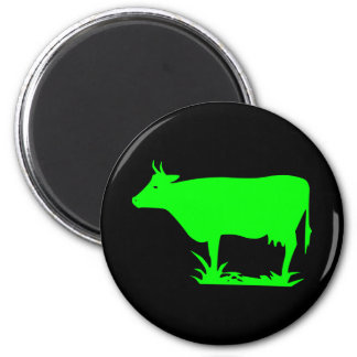 Green Alien Cow Magnets