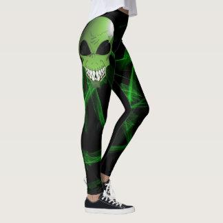 Green alien custom leggings