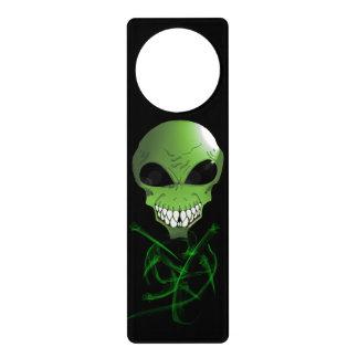 Green alien Door Hanger