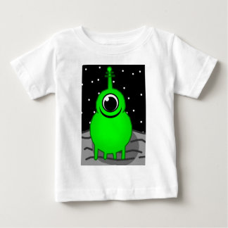Green Alien Drawing Baby T-Shirt
