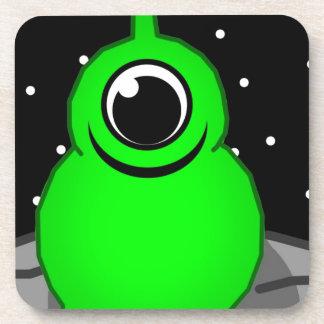 Green Alien Drawing Coaster