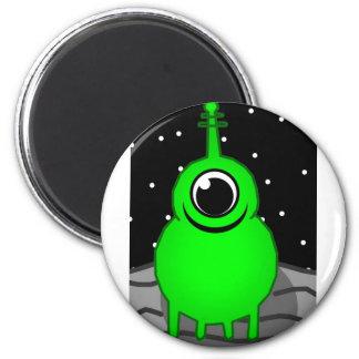Green Alien Drawing Magnet