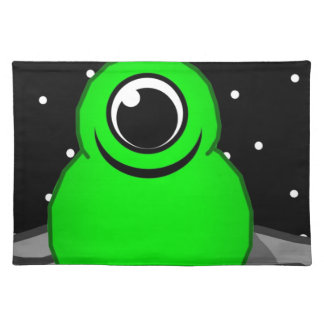 Green Alien Drawing Placemat