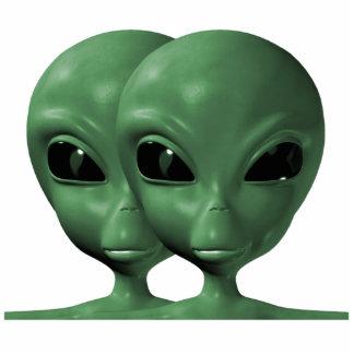 Green Alien Duo Photo Sculpture Magnet