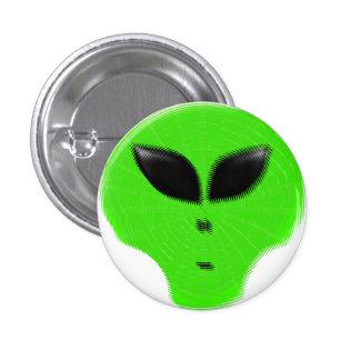 Green Alien Extraterrestrial 3 Cm Round Badge