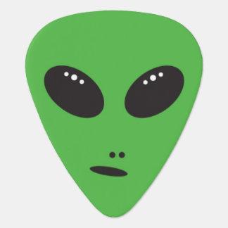 Green Alien Face Guitar Pick Plectrum