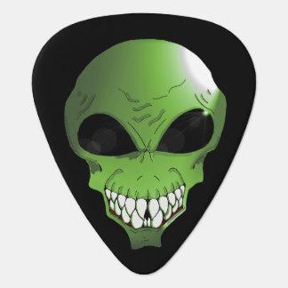 Green alien guitar pic plectrum